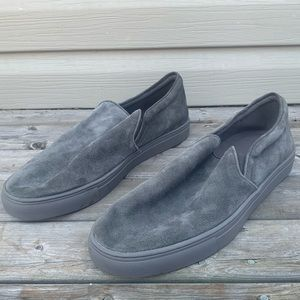 Donald Pliner Arbor Loafers Mens 13 Grey Leather